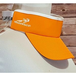 HeadSweats Orange Tennis Sun Visor NWT